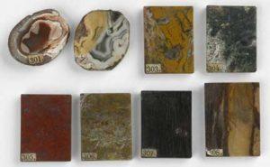 Agaten, uit achttiende-eeuwse verzameling