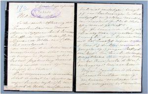 Hs. 1512, brief van Carolina des Tombe-de Witte van Citters aan Frederik Nagtglas d.d. 30 juni 1888.In bruikleen bij de Zeeuwse Bibliotheek.