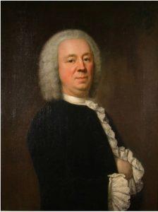 G 1560. Portret Jacob van Citters (1708-1792), toegeschreven aan J. Appelius. Dit schilderij hing boven de schoorsteen links. Olieverf op doek, hoog 80 cm, breed 60 cm. In bruikleen bij het Zeeuws Museum.