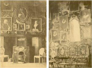 Zelandia Illustrata II-978 a en b. Foto's van de salon met portretten, ca. 1861.Hoog 22,5 cm, breed 16,5 cm.In bruikleen bij het Zeeuws Archief.
