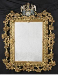 Zelandia Illustrata II-979 b. Schoorsteen inPopkensburg.Tekening door J.H. Hollestelle, negentiende eeuw. Hoog 12,5 cm, breed 15,7 cm.In bruikleen bij het Zeeuws Archief.