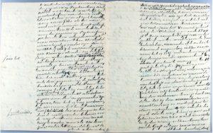 Hs. 1513, brief van Frederik Nagtglas aan Carolina des Tombe-de Witte van Citters d.d. 3 juli 1888.In bruikleen bij de Zeeuwse Bibliotheek.