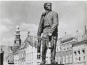 Zelandia Illustrata P05016Standbeeld van Frans Naerebout in het Bellamypark te Vlissingen, foto, 2de helft 20ste eeuw.In bruikleen bij het Zeeuws Archief.